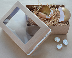 GIFT BOXES with WINDOW - Two sizes