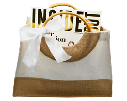 JUTE HAMPER/HAND BAG