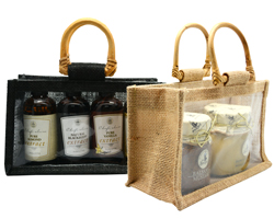 JUTE DOUBLE JAR BAG