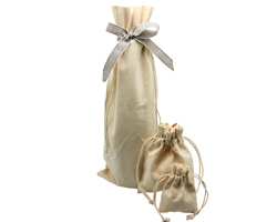 COTTON DRAWSTRING BAGS - 8OZ