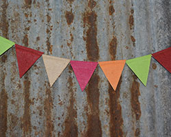 JUTE MINI BUNTING - Plain or Colours