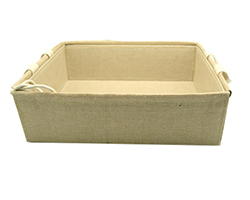 LINEN WEAVE TRAY with HANDLES