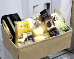 JUTE HAMPER TRAY with HANDLES