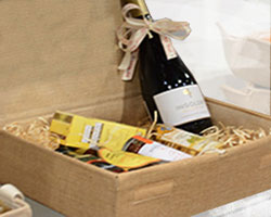 JUTE HAMPER BOX with LID