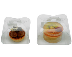 TORTINA(CAKE) CLEAR PVC BOXES