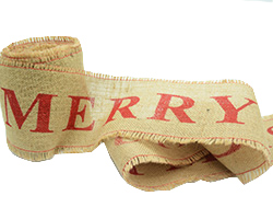 100mm C/E JUTE MERRY CHRISTMAS