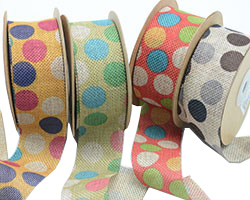 38mm CE POLKA DOTS ON JUTE