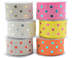 38mm W/E METALLIC POLKA DOT
