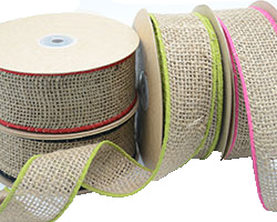 50mm COLOURED EDGE JUTE