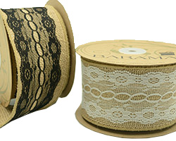 75mm JUTE WITH VINTAGE LACE