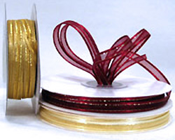 6mm SATIN EDGED SHEER with THREAD