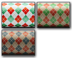 ARGYLE PATTERN WRAP