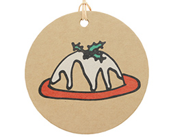 CHRISTMAS PUDDING GIFT TAG