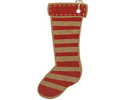 CHRISTMAS STOCKING GIFT TAG