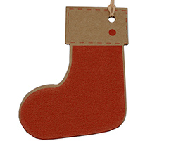 CHRISTMAS BOOT GIFT TAG
