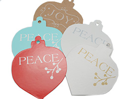 CHRISTMAS  BAUBLE GIFT TAG