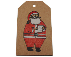 SANTA LUGGAGE TAG