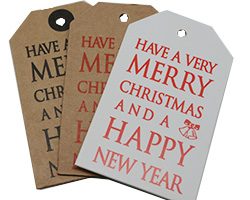 MERRY XMAS LUGGAGE TAG
