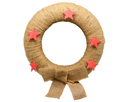 JUTE WRAPPED WREATH & BOW