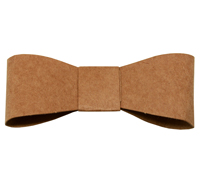 FOCCHETTO (BOW) -Brown Kraft