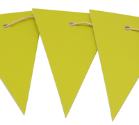 CARBOARD BUNTING TAG-Chartreuse