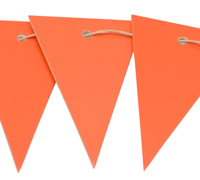 CARBOARD BUNTING TAG-Tangerine