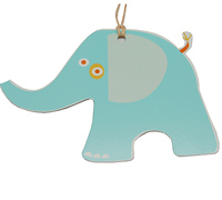 C/B ELEPHANT GIFT TAG-Tiffany on White board
