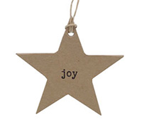 C/B STAR GIFT TAG-Black Joy