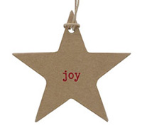 C/B STAR GIFT TAG- Red Joy