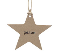 C/B STAR GIFT TAG-Black Peace