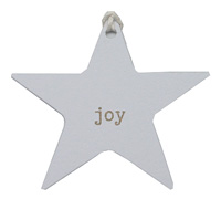 C/B STAR GIFT TAG-Gold Joy on White kraft
