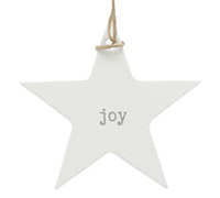 C/B STAR GIFT TAG-Silver Joy on White kraft
