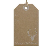 C/B LUGGAGE TAG - White Reindeer
