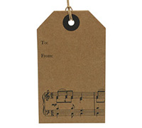 CARDBOARD LUGGAGE TAG-Song