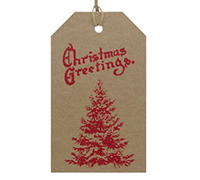 C/B LUGGAGE TAG - Red Tree