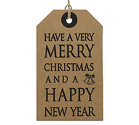 CARDBOARD LUGGAGE TAG-Christmas New Year