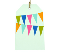 CARDBOARD LUGGAGE TAG-Bunting Bright