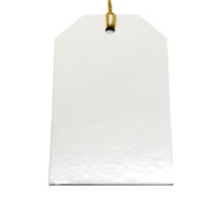 C/B SOLID LUGGAGE TAG-White on White board