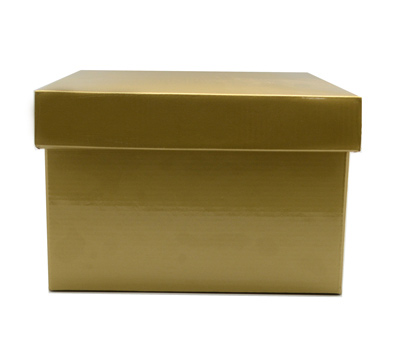 SML GIFT BOX & LID-Gold