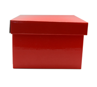 SML GIFT BOX & LID-Gloss Red