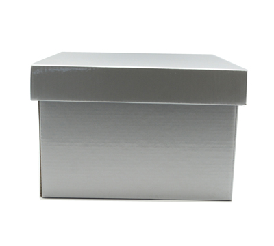 SML GIFT BOX & LID-Silver