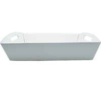 LGE HAMPER TRAY-Gloss White