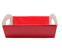 SML HAMPER TRAY-Gloss Red