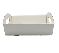 SML HAMPER TRAY-Gloss White