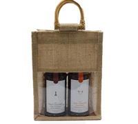 JUTE DOUBLE BAG c/WINDOW - Natural