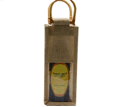 JUTE SINGLE BAG c/WINDOW - Natural