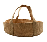 JUTE ROUND TRAY LGE -Natural