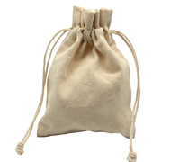 COTTON DRAWSTRING BAG SML - 8oz Cotton