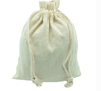 COTTON DRAWSTRING BAG SML-Natural Cotton