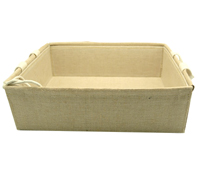 LINEN WEAVE TRAY with HANDLES-Medium